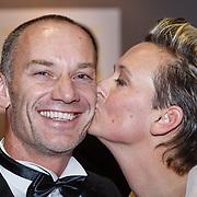 NLD/Amsterdam/20151215 - NOC / NSF Sportgala 2015, paralympische athletiek bondscoach Guido Bonsen en partner Helene Wiesenhaan