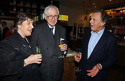 Left to right, LORD & LADY REES-MOGG and LORD HINDLIP at the opening of The National Cafe and an exclusive private view of the National Gallery's Valazquez Exhibition, at The National Gallery, Trafalgar Square, London on 26th October 2006.<br /><br />NON EXCLUSIVE - WORLD RIGHTS