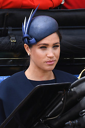The Duchess of Sussex attending Trooping The Colour, Buckingham Palace, London. Picture credit should read: Doug Peters/EMPICS