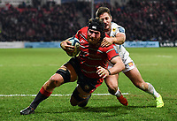 Rugby Union - 2018 / 2019 Gallagher Premiership - Gloucester vs. Exeter<br /> <br /> Gloucester's Ben Morgan scores his sides third try, at Kingsholm Stadium.<br /> <br /> COLORSPORT/ASHLEY WESTERN