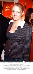 Social figure MISS SOPHIA WELLESLEY, at a party in London on 11th June 2002.PAX 70