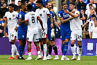 Football - 2021 / 2022 EFL Sky Bet Championship - Cardiff City vs AFC Bournemouth - Cardiff City Stadium - Saturday 18th September 2021<br /> <br /> tempers fray in the isa half<br /> COLORSPORT/WINSTON BYNORTH