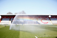 Ground shot of the new stand the fans invested in to have built during the EFL Sky Bet League 2 match between Stevenage and Bradford City at the Lamex Stadium, Stevenage, England on 5 April 2021.