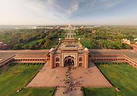 Aerial view of Taj Mahal, India
