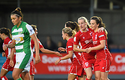 Chloe Arthur of Bristol City Women celebrates equalising - Mandatory by-line: Paul Knight/JMP - 03/05/2017 - FOOTBALL - Viridor Stadium - Taunton, England - Yeovil Town Ladies v Bristol City Women - FA Women's Super League 1 Spring Series