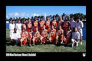 1999 Miami Hurricanes Women's Basketball Team Photo