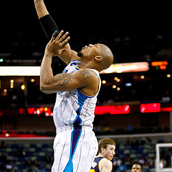 December 17, 2010; New Orleans, LA, USA; New Orleans Hornets power forward David West (30) shoots against the Utah Jazz during the second half at the New Orleans Arena.  The Hornets defeated the Jazz 100-71. Mandatory Credit: Derick E. Hingle