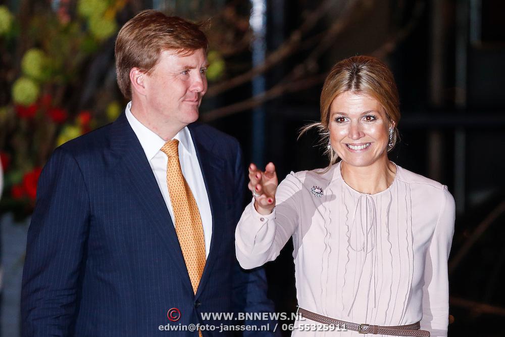 NLD/Utrecht/20130201 - Vertrek 75ste verjaardagfeest  Koninging Beatrix, Prins Willem-Alexander en prinses Maxima