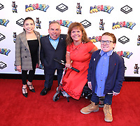 """Warwick Davis and family at the """"Moley"""" premiere, Leicester Square, London, Location, London, UK - 25 Sep 2021 photo by Roger Alacron"""