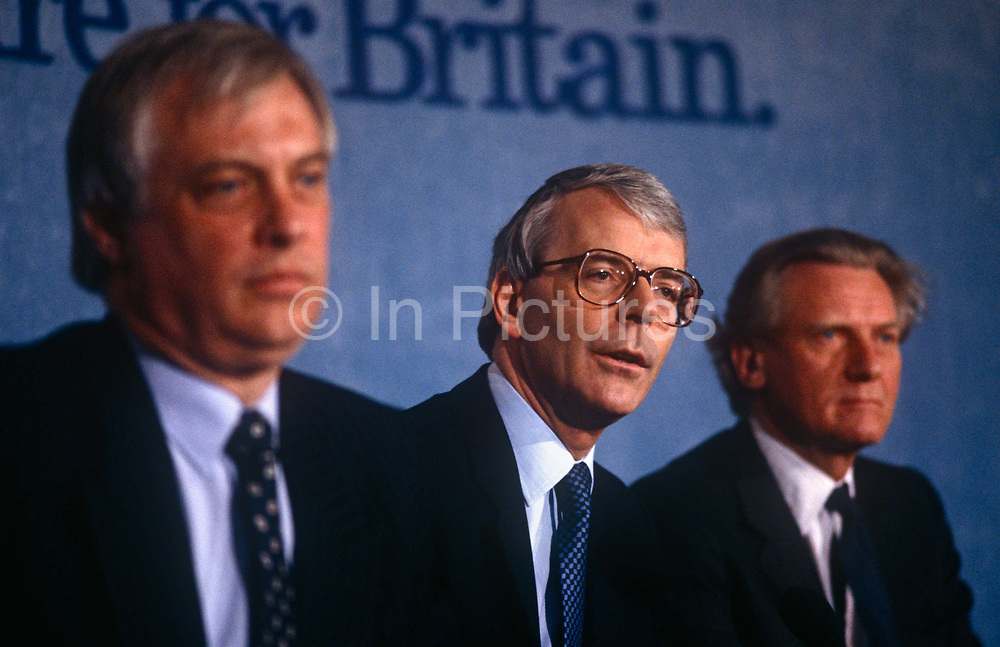 British Prime Minister, John Major gives his speech at the Conservative party conference on 11th October 1991 in Blackpool, England.