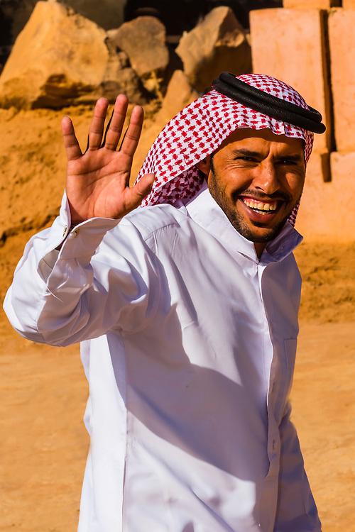 Bedouin Man, Captain's Desert Camp, Wadi Rum, Arabian Desert, Jordan.