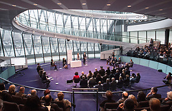 Holocaust Memorial Day <br /> A ceremony to commemorate Holocaust Memorial Day in a ceremony in the Chamber at City Hall, London, Great Britain<br /> 22nd January 2018 <br /> <br />  <br /> Mayor and Assembly join Londoners for Holocaust Memorial Day ceremony<br />  <br /> Daisy Kitchener and Luke Barrowman Holocaust Educational Trust Ambassadors from Gunnersbury Catholic School sharing their personal reflections on visiting Auschwitz-Birkenau as part of the Lessons from Auschwitz project .
