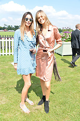 Zara Simon and Jessica Clarke at Cartier Queen's Cup Polo, Guard's Polo Club, Berkshire, England. 18 June 2017.<br /> Photo by Dominic O'Neill/SilverHub 0203 174 1069 sales@silverhubmedia.com