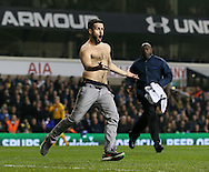Another pitch invader comes onto the pitch and is escorted off<br /> <br /> Europa League Group C- Tottenham vs Partizan Belgrade - White Hart Lane - England - 27th November 2014 - Picture David Klein/Sportimage