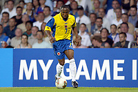 FOOTBALL - CONFEDERATIONS CUP 2003 - GROUP A - 030618 - FRANKRIKE v COLOMBIA - ELSON BECERRA (COL) - PHOTO GUY JEFFROY / DIGITALSPORT