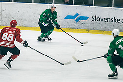 ČEPON Mark of HDD Olimpija vs Jaka Sodja of HDD Jesenice during 500th derbi between HK SZ Olimpija Ljubljana vs HDD SIJ Acroni Jesenice  - AHL 2019/20, on the 26th of  Oktober, Ljubljana, Slovenia. Photo by Matic Ritonja / Sportida