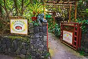 Entrance to the Paleaku Peace Garden, Captain Cook, The Big Island, Hawaii USA