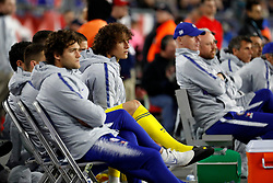May 15, 2019 - Foxborough, MA, U.S. - FOXBOROUGH, MA - MAY 15: Chelsea FC defender David Luiz (30) watches from the bench during the Final Whistle on Hate match between the New England Revolution and Chelsea Football Club on May 15, 2019, at Gillette Stadium in Foxborough, Massachusetts. (Photo by Fred Kfoury III/Icon Sportswire) (Credit Image: © Fred Kfoury Iii/Icon SMI via ZUMA Press)