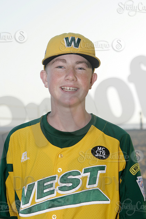 26 September 2011: #21 Trevor Windisch 2011 Little League Baseball World Series Championship team portrait northside of the Huntington Beach Pier at sunset in Southern California.  Ocean View team WEST beat Hamamtsu City, Japan, 2-1, to become the seventh team from California to win the title on August 28, 2011 in South Williamsport, PA.
