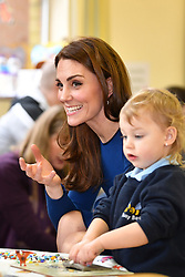 February 28, 2019 - Ballymena, United Kingdom - Image licensed to i-Images Picture Agency. 28/02/2019.  Ballymena, Northern Ireland, United Kingdom. The Duke and Duchess of Cambridge during a visit to St Joseph's SureStart Facility in Ballymena, on the second day of their trip to Northern Ireland. (Credit Image: © i-Images via ZUMA Press)