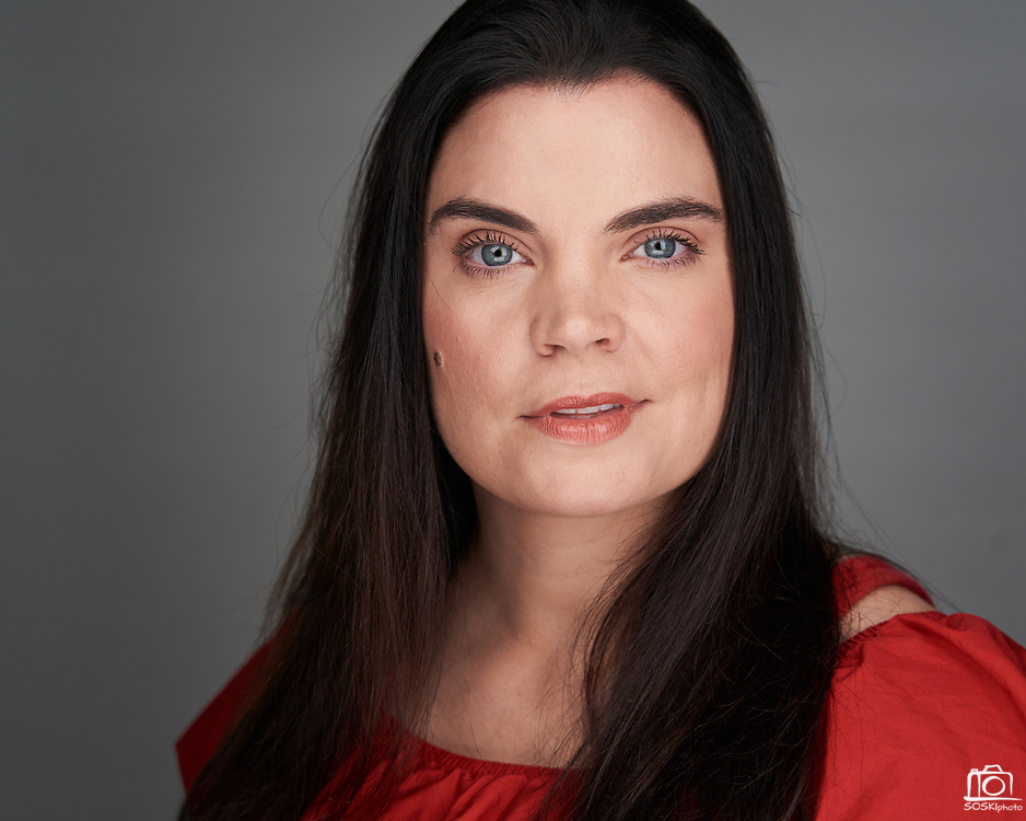 Actor Stacy Beckly poses for a headshot at SOSKIphoto in Hayward, California, on August 8, 2020. (Stan Olszewski/SOSKIphoto)