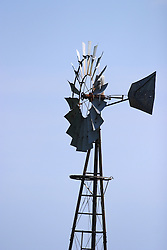 02 July 2006:   A workhorse of the old west was the windmill.  This one built by Aeromotor in Chicago Illinois was found in north east Nebraska. This image available for EDITORIAL USE ONLY. A release may be required. Additional information by contacting alook at alanlook.com