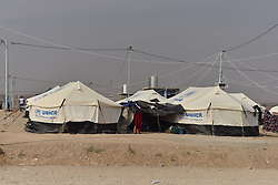 Refugees camp of UNHCR in Zelican, North of Mosul, Kurdistan Region of Iraq on October 25, 2016. UNHCR is stepping up its preparations to receive those displaced by the fighting to retake Iraqís second city, Mosul. Photo by Mathieu Redoube/ABACAPRESS.COM