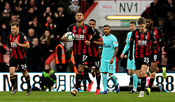 Bournemouth's Joshua King celebrates scoring his side's first goal of the game during the Premier League match at the Vitality Stadium, Bournemouth.