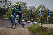 #130 (PILARD Arthur) FRA at the 2016 UCI BMX Supercross World Cup in Papendal, The Netherlands.