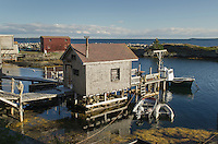 Fishermen's shacks and docks, Blue Rocks Nova Scotia