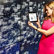 Leanne LeBlanc, IBM Watson project manager, views analytics of healthcare data at Watson headquarters in New York City, on Monday, April 13, 2015. IBM says each person generates one million gigabytes of health-related data across his or her lifetime, the equivalent of more than 300 million books. IBM launched the new Watson Health business unit to help patients, physicians, researchers and insurers use data to achieve better health and wellness for all. (Feature Photo Service)
