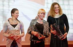 Sara Bercan, Maja Bratkic and Barbara Spiler during the Slovenia's Athlete of the year award ceremony by Slovenian Athletics Federation AZS, on November 12, 2008 in Hotel Mons, Ljubljana, Slovenia.(Photo By Vid Ponikvar / Sportida.com) , on November 12, 2010.