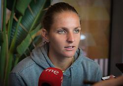 May 3, 2019 - Madrid, MADRID, SPAIN - Karolina Pliskova of the Czech Republic during All Access Hour at the 2019 Mutua Madrid Open WTA Premier Mandatory tennis tournament (Credit Image: © AFP7 via ZUMA Wire)
