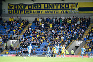 The Oxford fans during the EFL Sky Bet League 1 match between Oxford United and Coventry City at the Kassam Stadium, Oxford, England on 9 September 2018.