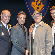 NLD/Amsterdam/20151005 - Premiere Baantjer Live 2, cast, Peter Römer, Dre Hazes jr., Peter Tuinman, Beau Schneider
