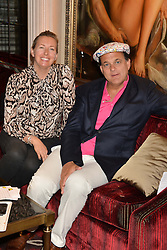 TIGGY KENNEDY and GERRY FOX at the Pig Pledge Evening at Club no41, 41 Conduit Street, London on 10th March 2014.