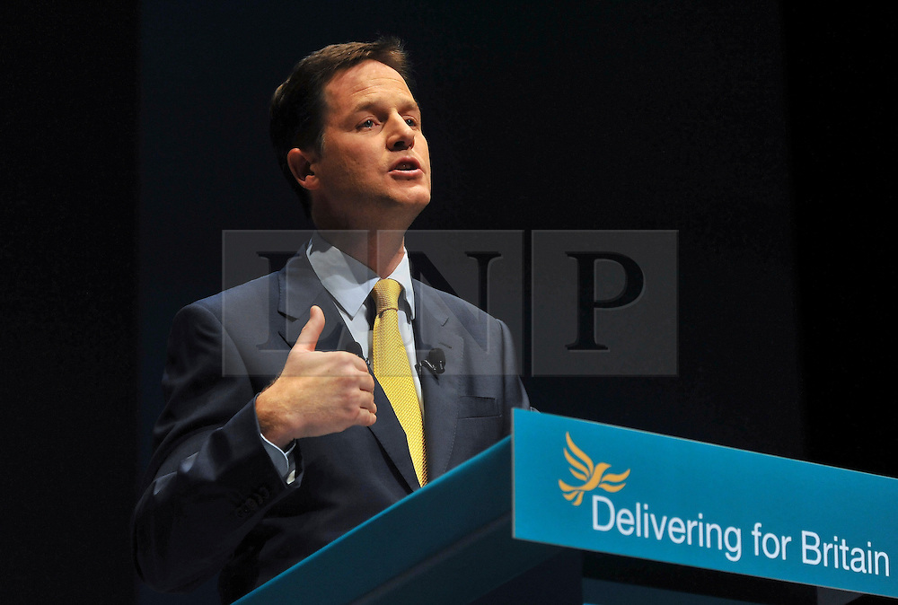 FILE PICTURE © under license to London News Pictures.  NICK CLEGG A week of student protests and a crucial Commons vote on Thursday on the coalition's proposals to lift the cap on fees to £9,000 a year put the pressure on Deputy Prime Minister Nick Clegg and Business Secretary Vince Cable. Picture credit should read Stephen Simpson/London News Pictures