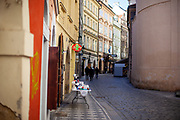 Almost all shops in Prague are closed, instead of souvenirs sellers offer protection against the virus such as face masks at the kings road leading to Prague Charles Bridge. On March 1st, 2021 the state of emergency in the Czech Republic was reinstalled because of fast increasing numbers in infections. The lockdown was reinstated and the restriction of the free movement of people has taken effect. Currently, the country remains at the highest stage of the anti-epidemiological system and the newly imposed restriction will last at least three weeks to curb the epidemic.