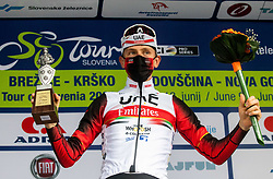 Tadej POGACAR of UAE TEAM EMIRATES celebrates during 2nd Stage of 27th Tour of Slovenia 2021 cycling race between Zalec and Celje (147 km), on June 10, 2021 in Slovenia. Photo by Vid Ponikvar / Sportida