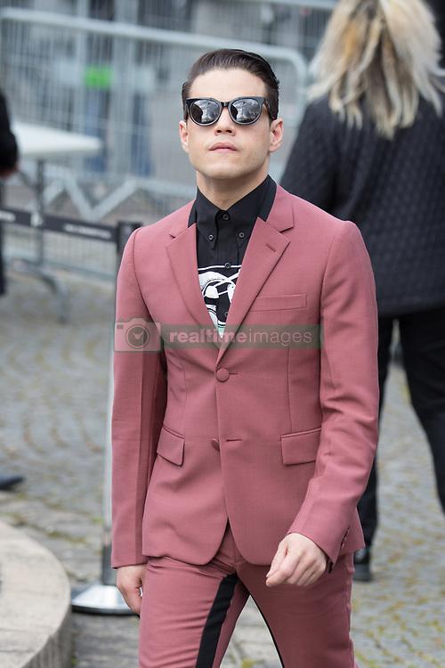Rami Malek arriving at Miu Miu fashion show Paris during the Paris fashion week in Paris, France on March 06, 2017. Photo by Nasser Berzane/ABACAPRESS.COM