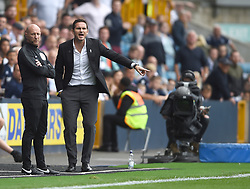 Derby County manager Frank Lampard getsures on the touchline