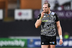 Ospreys' Alun Wyn Jones<br /> <br /> Photographer Craig Thomas/Replay Images<br /> <br /> EPCR Champions Cup Round 4 - Ospreys v Northampton Saints - Sunday 17th December 2017 - Parc y Scarlets - Llanelli<br /> <br /> World Copyright © 2017 Replay Images. All rights reserved. info@replayimages.co.uk - www.replayimages.co.uk