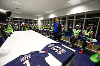 Alain Juppe - 23.03.2015 - Visite du Stade de Bordeaux -<br /> Photo : Caroline Blumberg / Icon Sport *** Local Caption ***