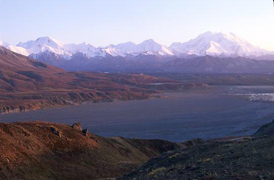 Denali National Park, Scenic of Mount McKinley. Alaska.