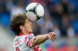 14-06-2012 VOETBAL: UEFA EURO 2012 DAY 7: POLEN OEKRAINE<br /> Nikica Jelavic of Croatia during the Euro 2012 football championships match Italy v Croatia at the stadium in Poznan. <br /> ***NETHERLANDS ONLY***<br /> ©2012-FotoHoogendoorn.nl