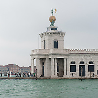VENICE, ITALY - APRIL 04:  Ê A general view of Punta della Dogana leased to Mr Franois Pinault, seen on the day of a protest against the sale and privatization of local buildings on April 4, 2012 in Venice, Italy. Several palaces and historical buildings in Venice have been recently sold by the Municipality or are currently for sale causing local anger. (Photo by Marco Secchi/Getty Images)