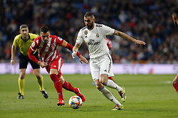 January 24, 2019 - Madrid, Madrid, Spain - Karim Benzema (Real Madrid) seen in action during the Copa del Rey Round of quarter-final first leg match between Real Madrid CF and Girona FC at the Santiago Bernabeu Stadium in Madrid, Spain. (Credit Image: © Manu Reino/SOPA Images via ZUMA Wire)
