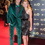 NLD/Amsterdam/20161013 - Televiziergala 2016, Niek Roozen en Britt Scholte