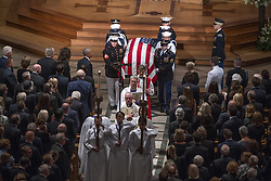 Recessional ending the memorial service for the late United States Senator John S. McCain, III (Republican of Arizona) in the Washington National Cathedral in Washington, DC, USA on Saturday, September 1, 2018. Photo by Ron Sachs/CNP/ABACAPRESS.COM