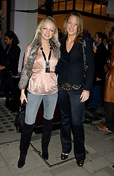 Left to right, HANNAH SANDLING and EMILY CROMPTON at a party to launch a new stor for tailors Pogson & Davis in Davies Street, London W1 on 15th December 2005.<br /><br /><br />NON EXCLUSIVE - WORLD RIGHTS